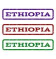 ethiopia watermark stamp vector image