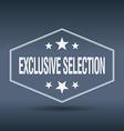 exclusive selection hexagonal white vintage retro vector image vector image