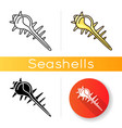 exotic spiked sea shell icon vector image vector image