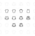 fashion clothes icons 2 pixel stroke 60x60 vector image