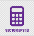 flat calculator vector image vector image