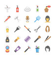 flat icons set of hair salon accessories vector image
