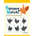 Game template for matching chicken vector image vector image