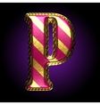 golden and red letter p vector image vector image