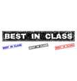 grunge best in class scratched rectangle stamp vector image vector image