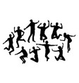 happy people silhouettes vector image vector image