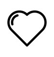heart icon symbol of love wedding and saint vector image vector image
