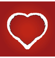 heart made of red ragged paper vector image vector image