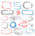 high detail generic stamps vector image vector image
