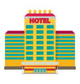 hotel flat vector image