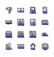 household appliances icons are flat vector image vector image