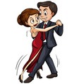 It takes two to tango vector image vector image