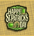 logo for saint patricks day vector image