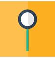Loupe icon over orange vector image vector image