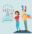 man and woman on national holiday france people vector image