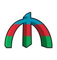 Manat Azerbaijan Sign money National currency of vector image