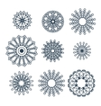Mandalas collection Round Ornament Pattern vector image vector image