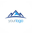 mountain triangle logo vector image vector image