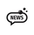 news speech bubble icon design reportage message vector image