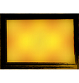 Orange Gold Celebrate border Grunge Background vector image vector image