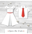 origami wedding invitation vector image vector image
