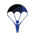parachutist icon Abstract Triangle vector image