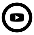 play button icon black color in round circle vector image vector image