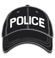 police baseball cap-police hat vector image vector image