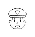 policeman face happy authority character vector image