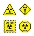 radiation risk icon set radioactive hazard signs vector image vector image