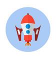 rocket flat icon rocket icon i vector image vector image