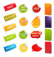 Sale Stickers And Labels vector image vector image