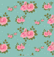 seamless pink roses pattern vector image