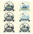 set of adventure vintage labels vector image vector image