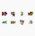 set of geometric design abstract option vector image vector image