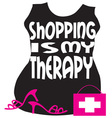 Shopping My Therapy vector image vector image