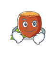 smirking hazelnut character cartoon style vector image vector image
