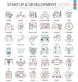 Startup and development color line outline vector image vector image