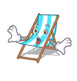 surprised beach chair mascot cartoon vector image