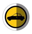 symbol taxi side car icon vector image