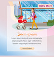 the concept purchases children goods in baby store vector image vector image