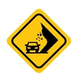 traffic yellow signal road isolated icon vector image vector image