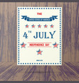 usa independence day placard vector image vector image