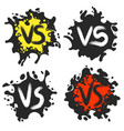 versus fight labels on dirty blobs vector image vector image