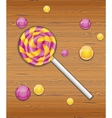Violet and yellow candy vector image