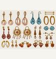 women jewelry earrings vintage handmade vector image vector image