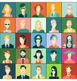 Set of avatars flat design vector image