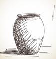 ceramic jug vector image