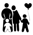 childrens with baloon mother and father vector image