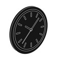 round wall clock office clock single icon in vector image